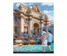 schipper Fontana di Trevi in Rom Malen nach Zahlen Vorlage