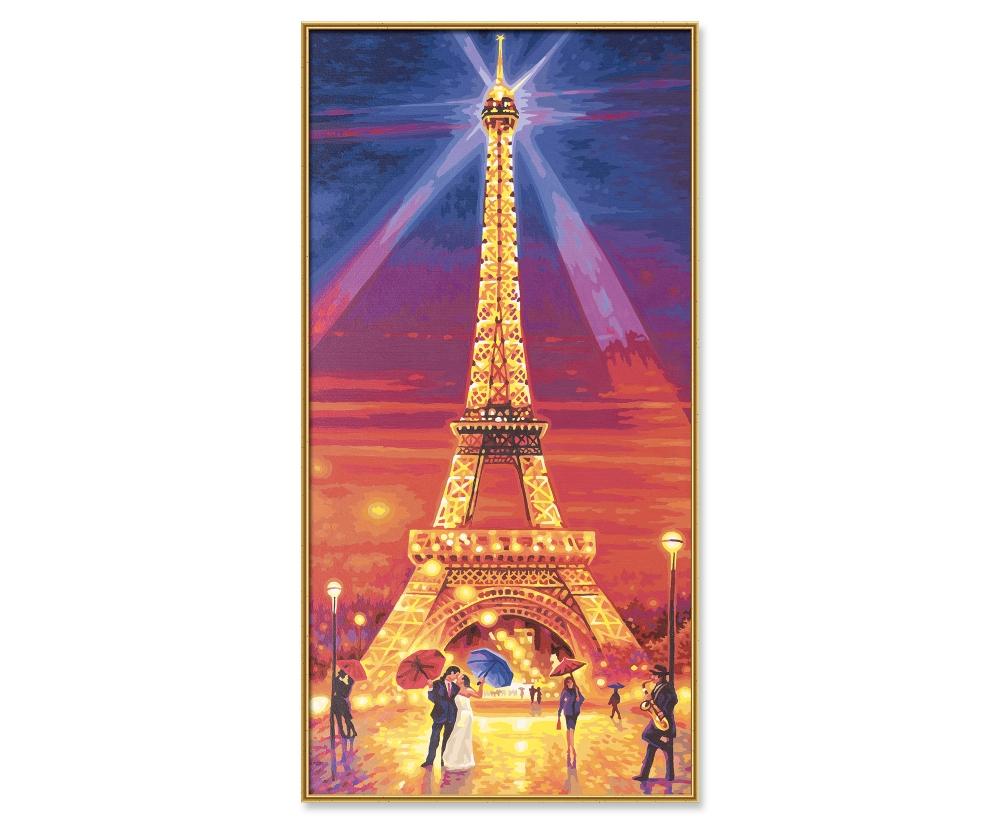 Der Eiffelturm bei Nacht - Hochformat 40 x 80 cm - Bildformate - www ...