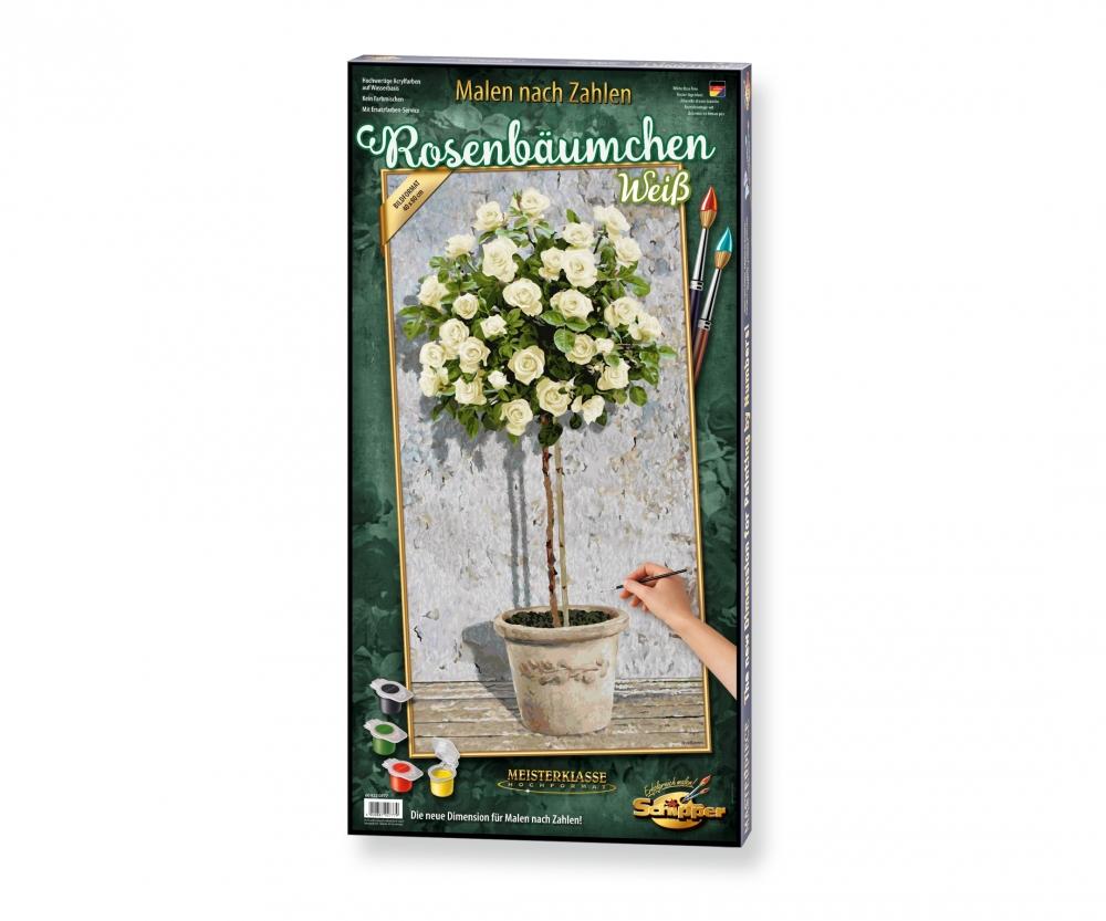 White Rose Tree Portrait Format 40 X 80 Cm Picture