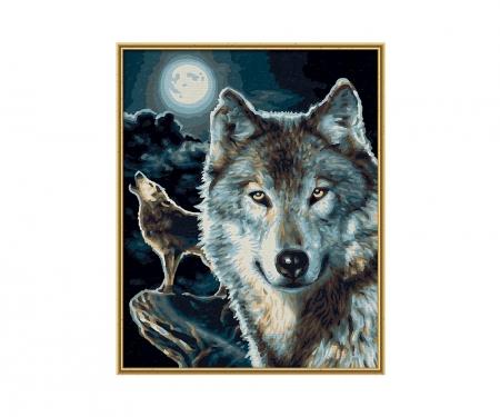 schipper Wölfe Malen nach Zahlen Vorlage