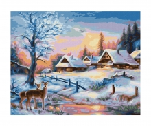 schipper Paysage hivernal