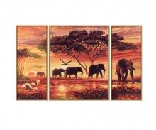 schipper Afrika – Elefantenkarawane Malen nach Zahlen