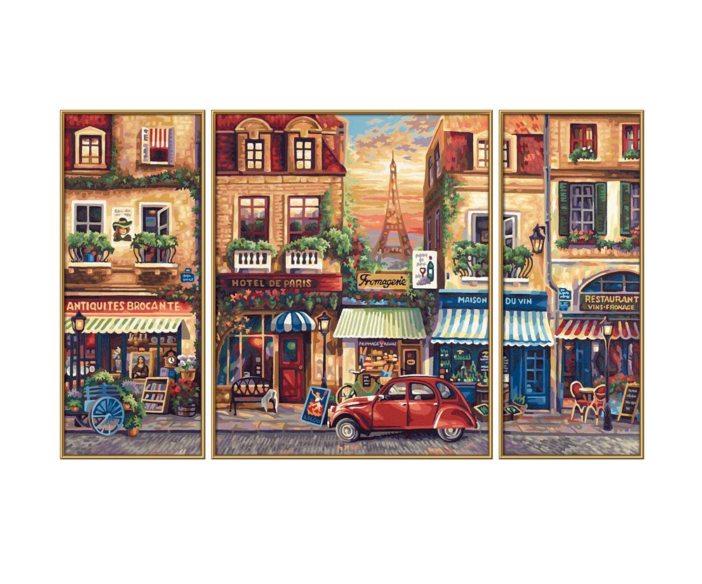 Weihnachtsbilder Nostalgie.Paris Nostalgie Triptychon 50 X 80 Cm 3 Teilig Bildformate