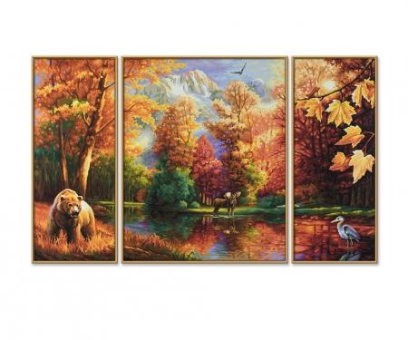 schipper Indian Summer (Triptychon) Malen nach Zahlen Vorlage