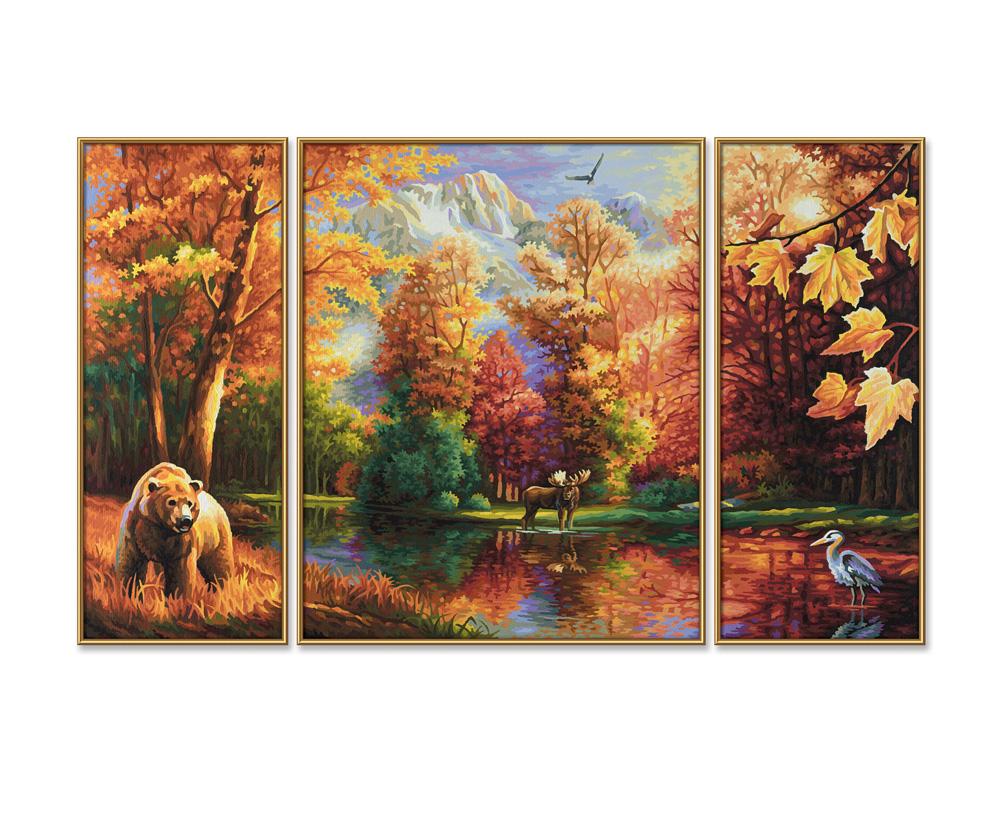 Indian Summer Triptychon 50 X 80 Cm 3 Teilig Bildformate Www