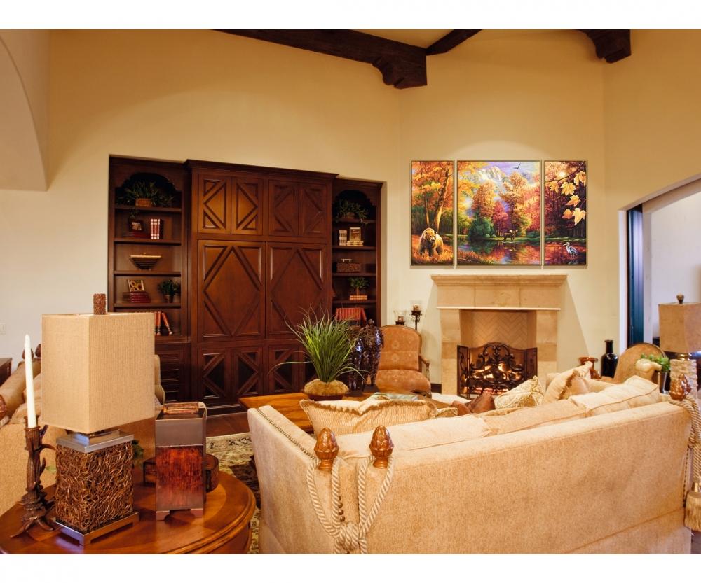 Indian Summer Malen nach Zahlen Triptychon von Schipper