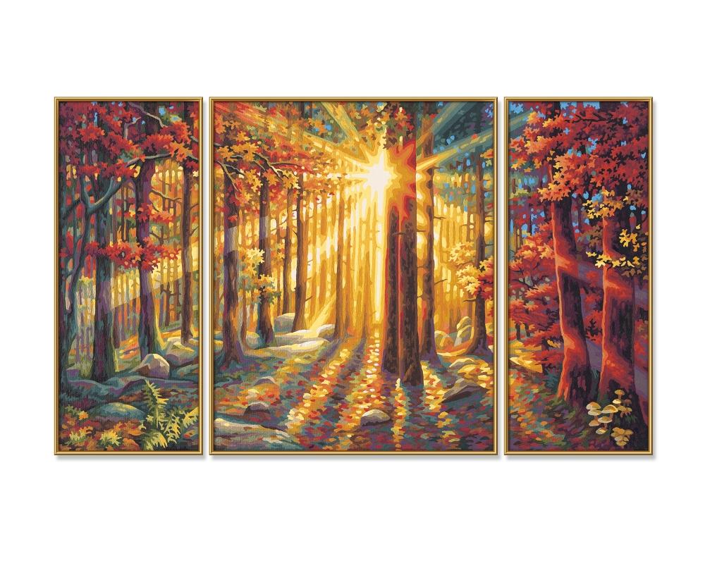 Herbstwald Triptychon 50 X 80 Cm 3 Teilig Bildformate Www