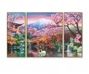 schipper Kirschblüte in Japan (Triptychon) Malen nach Zahlen Vorlage