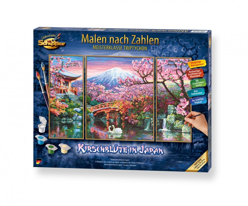 Kirschblüte in Japan - Triptychon 50 x 80 cm - 3-teilig ...