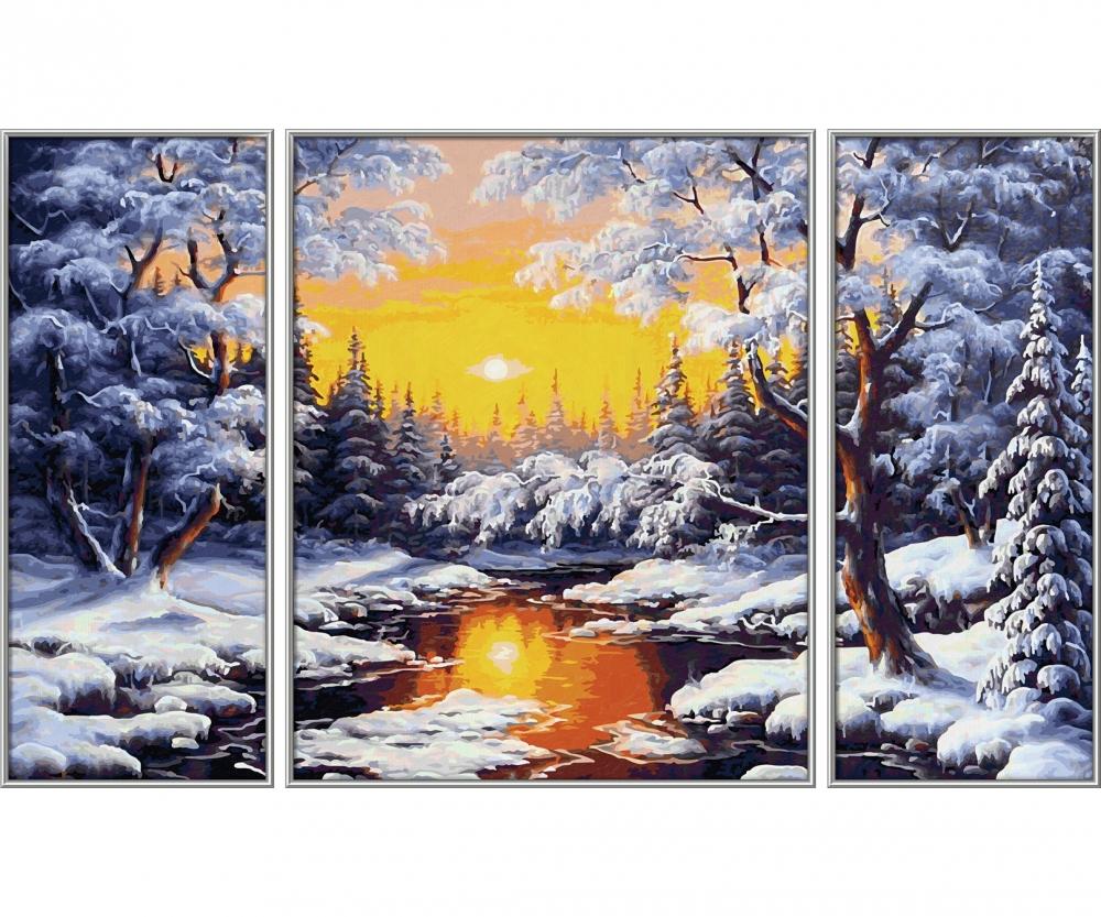 Verschneite Weihnachtsbilder.Ein Wintertraum Landschaften Malthemen Www Malennachzahlen