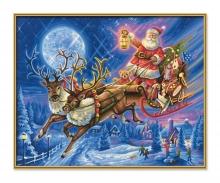 schipper Der Weihnachtsmann mit Rentierschlitten Malen nach Zahlen
