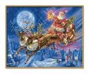schipper Santa Claus with his reindeer slide