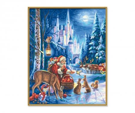 Santa Claus at Neuschwanstein Castle