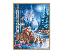 Santa Claus at Neuschwanstein Castle
