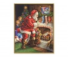 schipper Der Weihnachtsmann am Kamin Malen nach Zahlen