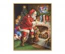 schipper Santa Claus at the Fireplace