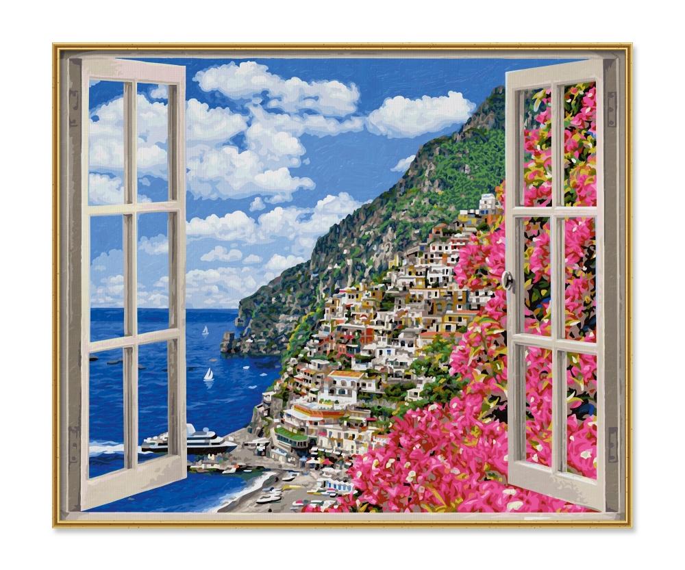 positano on the amalfi coast large format 50 x 60 cm picture