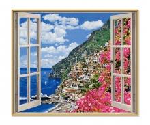 schipper Positano an der Amalfiküste Malen nach Zahlen
