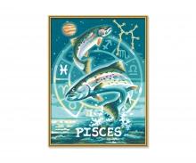 schipper Fische Sternzeichen Malen nach Zahlen Vorlage