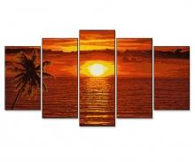 schipper Sonnenuntergang in der Karibik Malen nach Zahlen