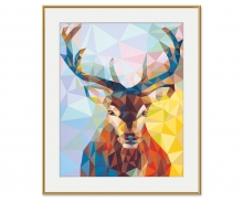 Stag – Polygon-Art