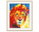 schipper Lion head – Polygon-Art