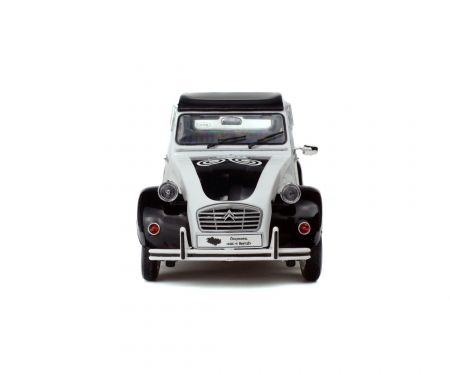 1:18 Citroën 2CV6 BZH, white/black, 1978