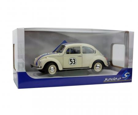 """schuco 1:18 VW Käfer 1303 """"Racer 53"""", beige"""