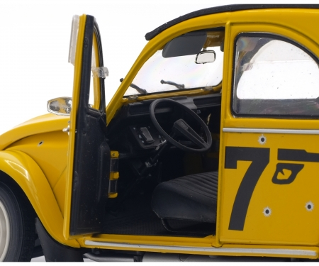 "schuco 1:18 Citroën 2CV6 ""007"", yellow, 1981"
