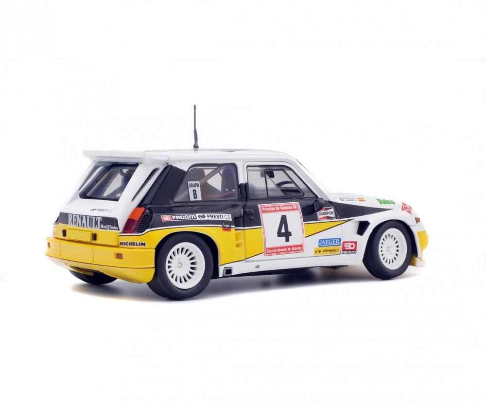 A.Boto 1:18 Solido Sainz C Renault R5 Maxi Turbo Rally de Asturias 1986