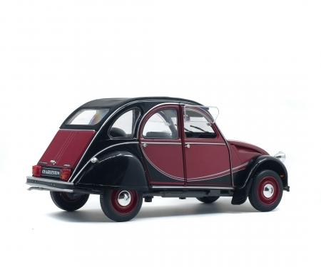 schuco 1:18 Citroën 2CV6 Charleston, darkred/black