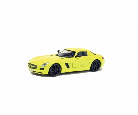schuco 1:43 Mercedes-Benz SLS, yellow, 2010