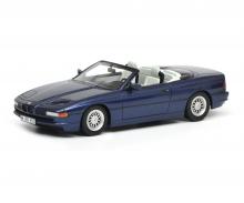 BMW 850i Cabriolet, blue, 1:18