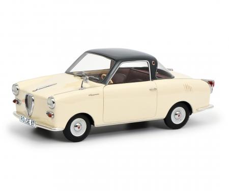 Goggomobil Coupé TS 250, beige-dunkelgrau, 1:18