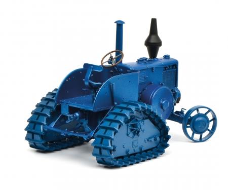 schuco Lanz Bulldog Halbraupe, blau, 1:18
