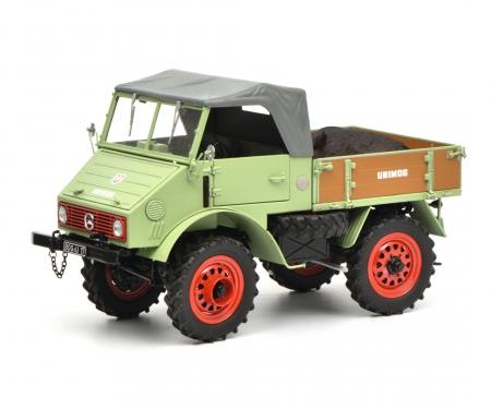 Unimog U401 with boar, green, 1:18