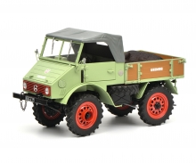 Unimog U401 with boar, green, 1:18