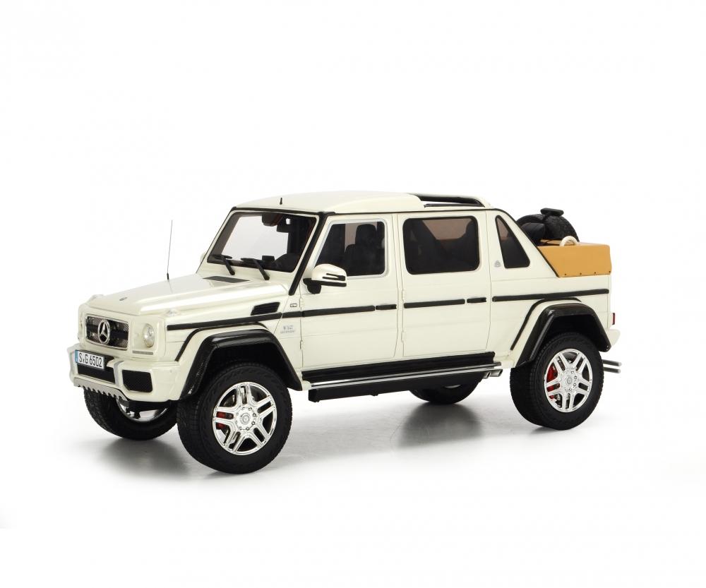 mercedes-maybach g650 landaulet, white, 1:18 - pro.r 18 - car models