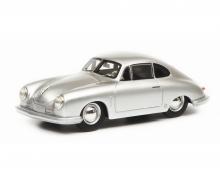 schuco Porsche 356 Gmünd Coupé, silber, 1:18