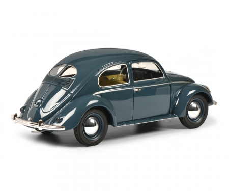 schuco VW Kaefer split window, blue 1:18