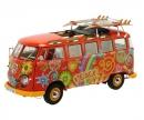 """VW T1 Samba """"Hippie"""" mit Dachträger und Surfbrettern, 1:18"""