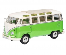 schuco VW T1b Samba, green/white, 1:18