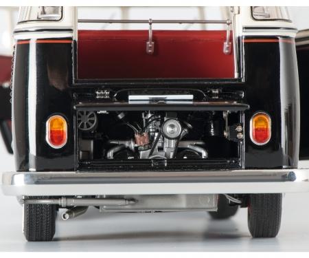 VW T1b Samba, black-white, 1:18