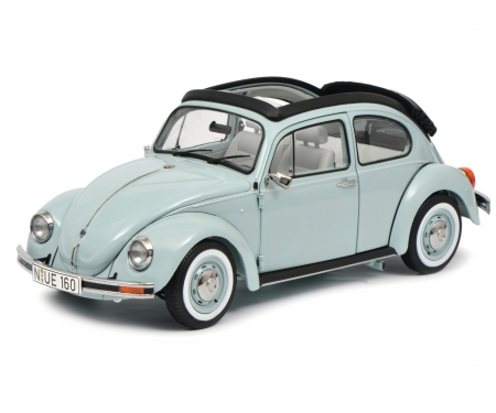 VW Beetle 1600i Última Editión with folding roof, aquarius blue 1:18