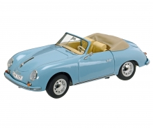 Porsche 356 A Cabrio, light blue 1:18
