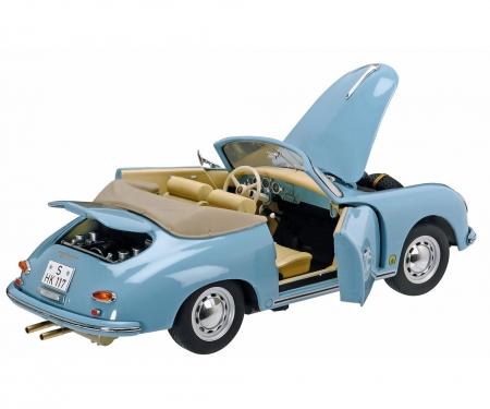Porsche 356 A Cabrio, light blue 1:18