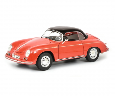 "schuco Porsche 356 A Carrera Speedster ""Edition 70 Jahre Porsche"", red black, 1:18"