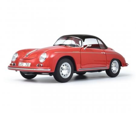 """Porsche 356 A Carrera Speedster """"Edition 70 Jahre Porsche"""", red black, 1:18"""