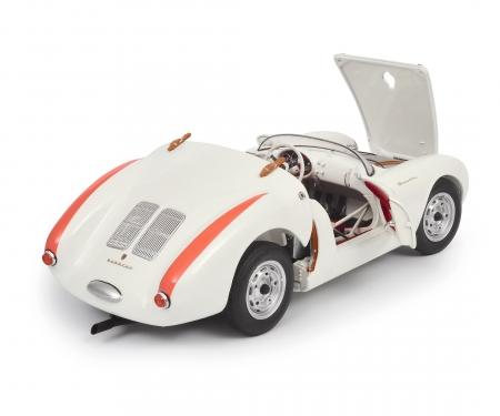 """schuco Porsche 550 A Spyder """"Edition 70 Jahre Porsche"""", weiß 1:18"""