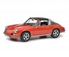 schuco Porsche 911 S Targa 1973, rot, 1:18